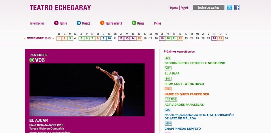 Programación web Teatro Echegaray Malaga