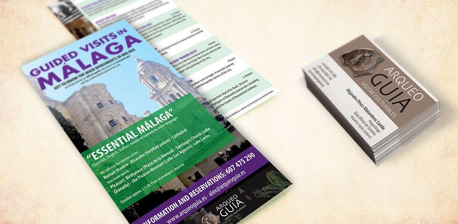 imágen corporativa y flyer publicitario Malaga