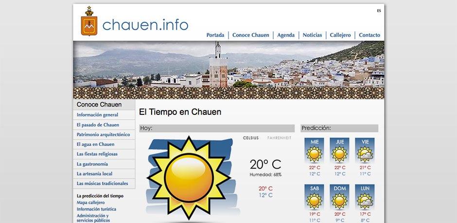 callejeros y predicción meteorológica Flash Marruecos