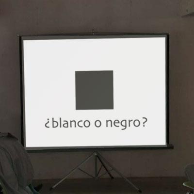 ¿blanco o negro?