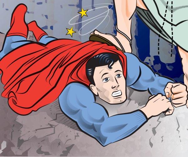 Supermán sucumbe al poder de la cristonita
