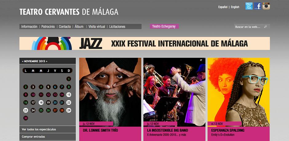 web programming Teatro Cervantes Malaga