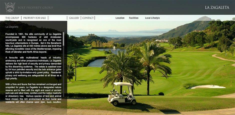 real estate website in Flash La Zagaleta Malaga