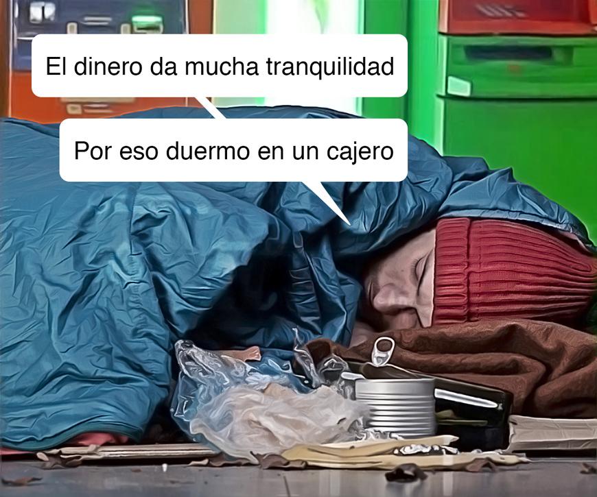 dormido en un cajero