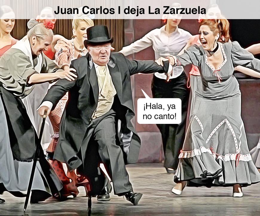 Juan Carlos I deja La Zarzuela